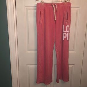 Women's size large VS Pink sweat pants